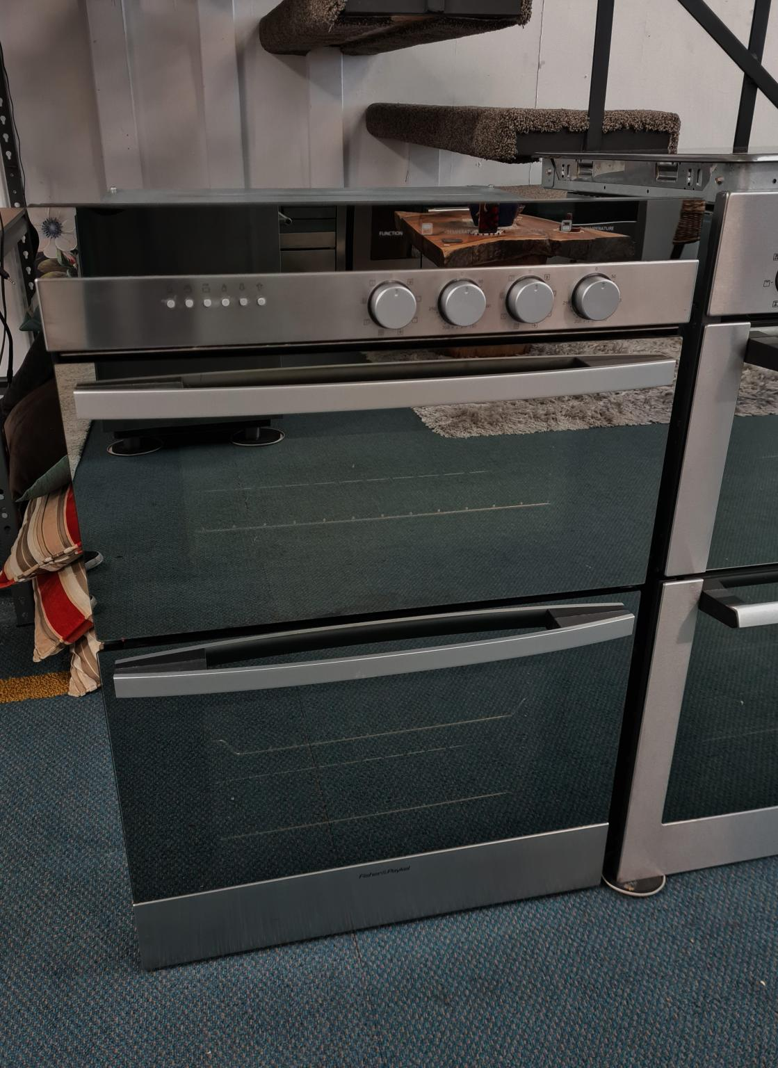 Fisher & Paykel Double Built-in Oven, 60cm Multi-Function OB60B77CEX1