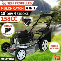 Mulch Catch Self Propelled Lawn Mower 4 Stroke 18in