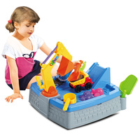 Kid's Castle Outdoor Sand & Water Table w 11 Pieces
