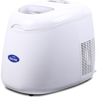 Everest Portable Ice Cube Maker Machine in White 2L