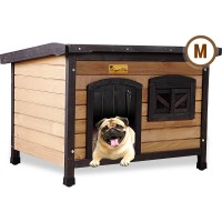 Medium Outdoor Timber Lift Up Roof Dog Kennel House