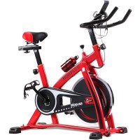 Norflex Fitness Home Gym Spin Bike in Red SPX200