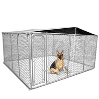 Galvanised Steel Dog Kennel Enclosure 2.3x2.3x1.2m