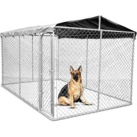 Galvanised Steel Dog Kennel Enclosure 4x2.3x1.83m