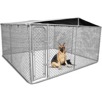 Galvanised Steel Dog Kennel Enclosure 4x4x1.83m