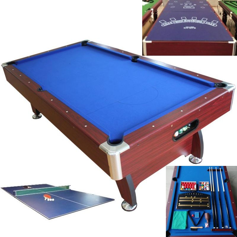 MDF Full Pool Table With Table Tennis Table Top 8FT