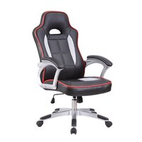 Aero PU Leather Racing Office Chair in Black