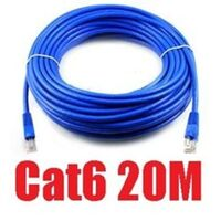 CAT6 Ethernet LAN Network Cable 20m 65 Feet in Blue