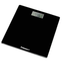 Sleek Black Digital Bathroom Scale