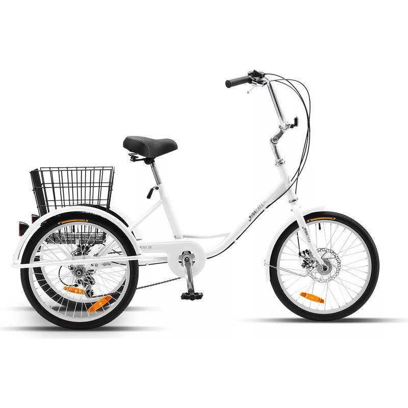 Ride Free Adult Tricycle W Rear Basket White 20in Buy Bikes