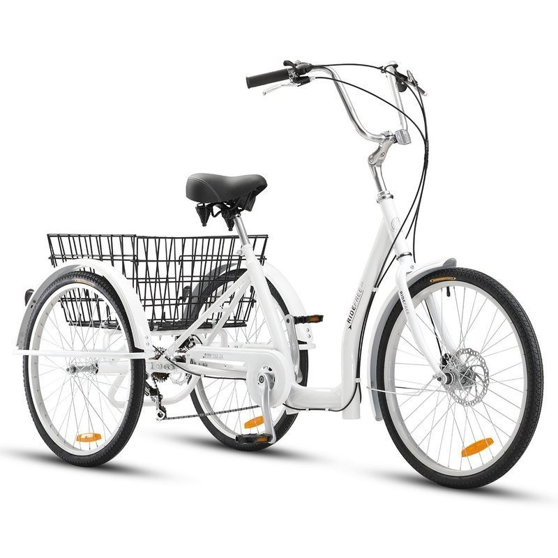 Ride Free 24in Adult Trike White | Buy Bikes - 9347166043016