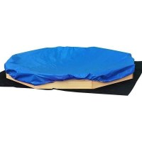 Kids Large Wooden Sandbox Sandpit with Cover Sheet