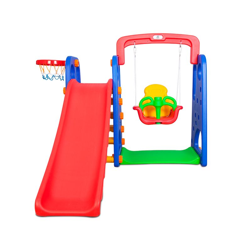 Kids Plastic Basketball Ring Hoop Slide & Swing Set | Buy ...