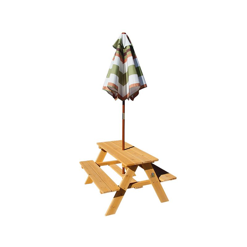 Sunset kids wooden picnic table with umbrella buy kids - Children s picnic table with umbrella ...
