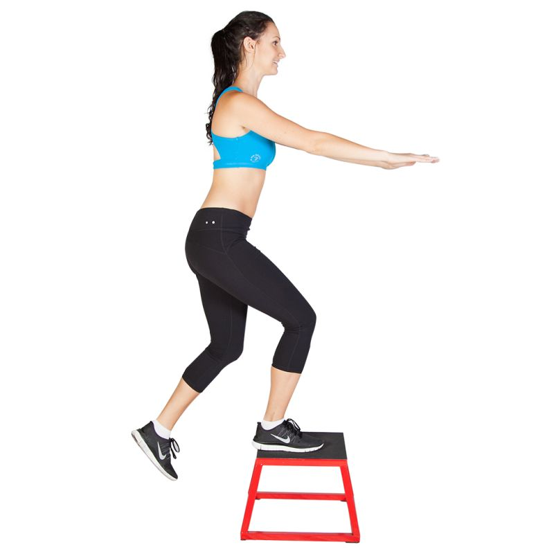 Plyo Box Fitness Aerobic Training Step In Red 30cm Buy