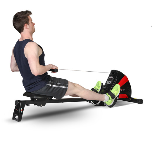 rowing machine with display
