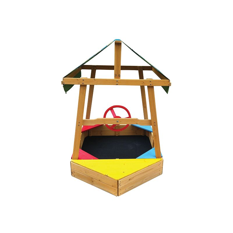 Kids Boat Pirate Ship Sandbox Sandpit With Canopy Buy