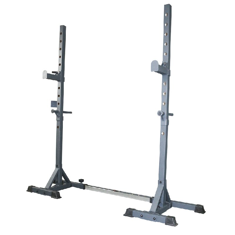 sr 1 compact squat rack w barbell safety hooks buy