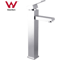 Square Basin Mixer Tap And Faucet, Chrome Plated