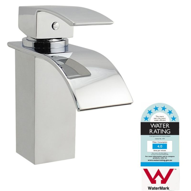 Square Basin Sink Waterfall Mixer Tap Chrome Buy Vessel