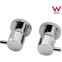 Wall Mounted Round Bath Shower Mixer Tap Set Chrome