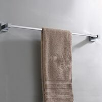 Chrome Single Towel Rail Stainless Steel Square