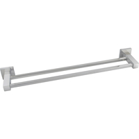 Bathroom Double Towel Rail Stainless Steel Square