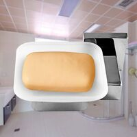 Matte Glass Soap Dish with Chrome Holder Square
