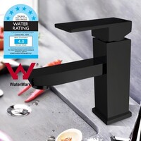 Bathroom Basin Square Mixer Tap Matte Black 165mm