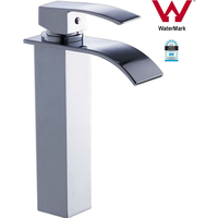 Tall Square Waterfall Bathroom Basin Mixer Tap
