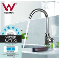 Gooseneck Kitchen Sink Basin Mixer Tap Chrome