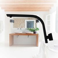 Matte Black Gooseneck Shower Arm Solid Brass Female
