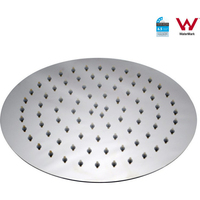 Round Shower Head Super Slim Stainless Steel 10in
