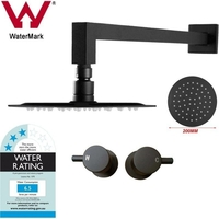 Shower Head, Lollipop Tap & 200mm Square Arm Set