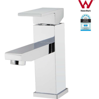 Bathroom Square Sink Faucet Mixer Tap in Chrome