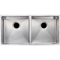 Kitchen Double Bowl Stainless Steel Sink 865x440mm