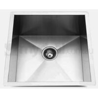 Kitchen Single Steel Sink w/ Strainer 440x440mm