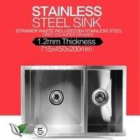 Kitchen Reversible Double Bowl Steel Sink 715x450mm