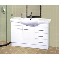 Freestanding Ceramic Bathroom Basin Vanity 1200mm