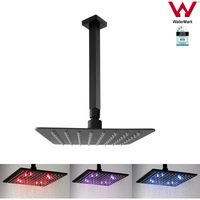 10in LED Shower Head w/ 400mm Ceiling Arm in Black