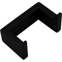 Stainless Steel Double Wall Towel Hook Matte Black