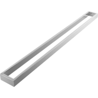 Square Single Bar Towel Rail Rack in Chrome 800mm
