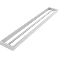 Square Double Bar Towel Rail Rack in Chrome 800mm