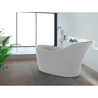 Modern Acrylic Slipper Freestanding Bathtub White