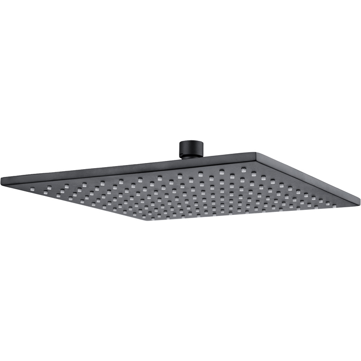 10in Square Swivel Shower Head In Matte Black Buy Shower