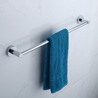 Gama Stainless Steel Square Towel Rack Chrome 60cm