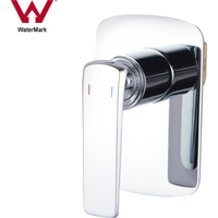 Masa Nero Brass Bathroom Wall Mixer Tap in Chrome