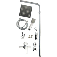 Chrome Rain Shower Head & Handheld Head Mixer Set