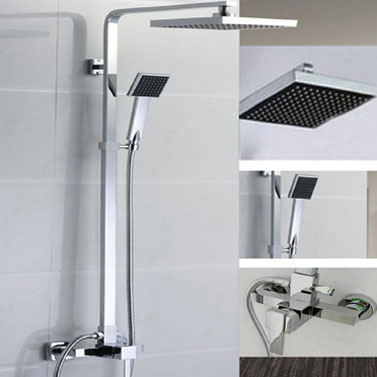 Chrome Rain Shower Head Amp Handheld Head Mixer Set Buy