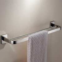 Stainless Steel Double Towel Rack Rail Chrome 660mm